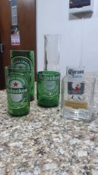 Copos e Taças de garrafas de vidro