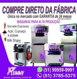 Máquina de Sorvete Expresso, Açaí, Cupuaçu, Polpas e Milk Shake
