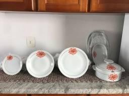 Jogo de jantar pratos porcelana