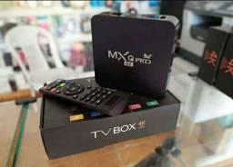Tvbox Mxq Pro 4k 5g 8g 64g Novo + Brinde