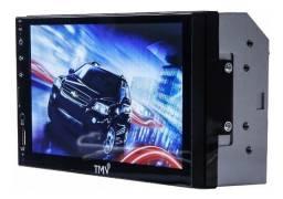 Multimídia nova, Full Hd touch + garantia + espelhamento Android + Bluetooth + USB + Sd!
