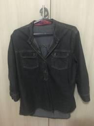 Camisa jeans feminina 46