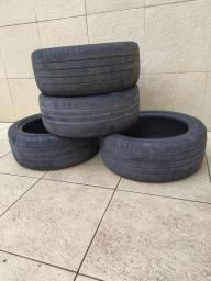 4 pneus meia vida R17 255x45