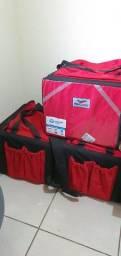 3 Caixas de entregas piracapas + 3 Roupas de chuva Pantanal