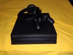 PS4 PRO+headset+base