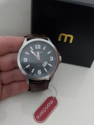 Relógio Mondaine com pulseira couro