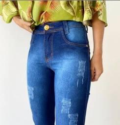 Linda Calça Jeans Basic Escura - Loja Viligili - Peças incríveis no precinho !!!