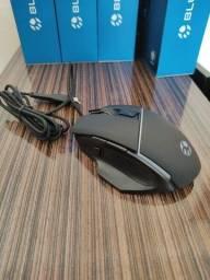 Mouse Gamer Bluecase BGM-01 RGB 2400DPI 8 botões - NOVO
