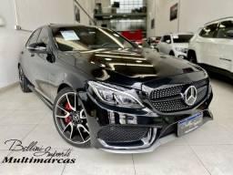 Título do anúncio: Mercedes Benz C 450 3.0 V6 GASOLINA AMG SPORT 4MATIC 7G-TRO