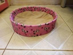 Cama para  pet rosa