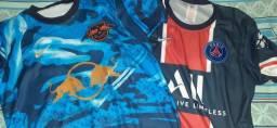 Camisas PSG e RB Leipzig