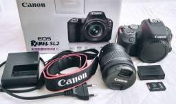 Kit completo camera canon SL2 STM (Semi Novo)