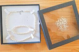 Excelente presente dias das mães! Conjunto de joias de pérolas verdadeiras!