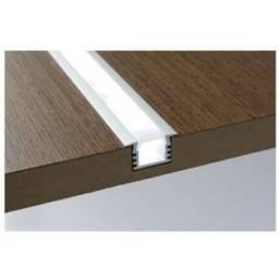 Perfil LED (1 metro) alumínio com visor acrílico no varejo e atacado