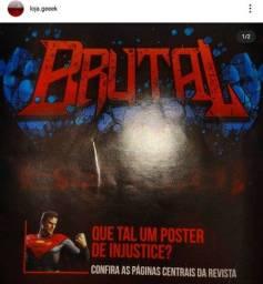 Revista nerd ao cubo Brutal + pôster Injustice