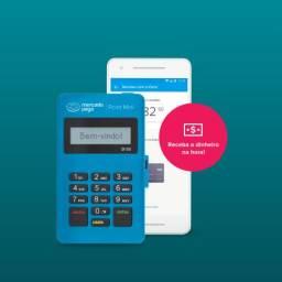 Máquina de cartão Point Mini Blue Mercado Pago - Receba suas vendas no crédito e débito!