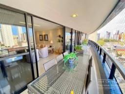 Apartamento com 250m², 4 suítes, todo projetado, ampla varanda - Manaira