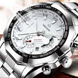 Título do anúncio: Relógio casual prata à prova d'água