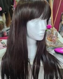 Front lace wig avelã