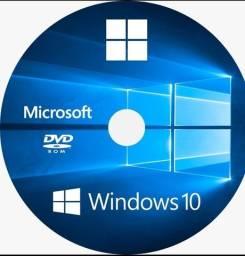DVD Windows 10, Versão Profissional, Final 32 ou 64 Bits em Português