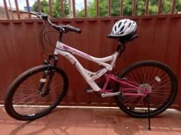 Bicicleta aro 26 com capacete incluso