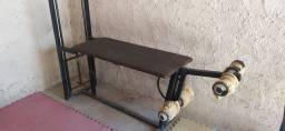 Mesa flexora + cadeira extensora