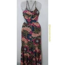 Vestido Estampado Longo Costa Nua