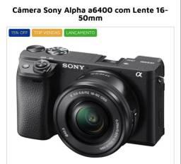 Camera Sony Alpha a6400 com lente 16-50mm