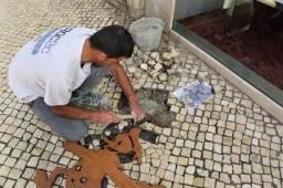 Polimento de calçadas em pedra portuguesa RJ Rio de Janeiro