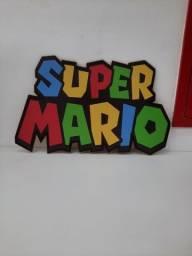 Placa MDF Super Mario - desapego