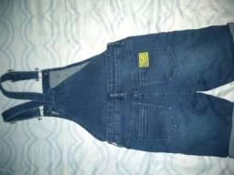 Jardineira jeans Tigor