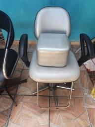 Cadeira hidráulica + puff + encosto de cabeça