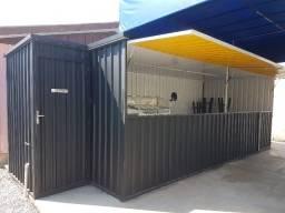 Conteiner montado (modulado), novo, lindo 6 M + o banheiro