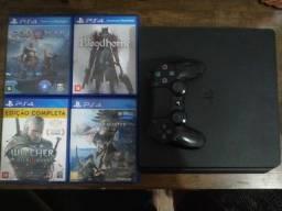 PS4 + 4 jogos com garantia
