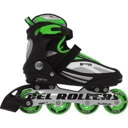 Patins Rollers Bxtreme Inline 42 Verde - Bel Sports<br><br>