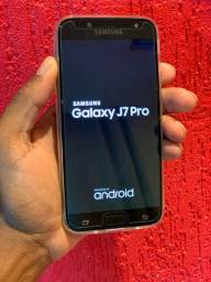 Samsung J7 Pro usado 64GB 2 Chips desbloqueado c/ biometria aceito cartão