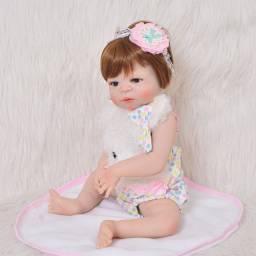 Bebe boneca reborn realista 100% silicione ruiva