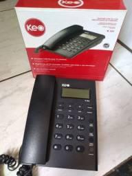 Telefone com fio com identificação de chamadas