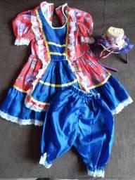 Vestido caipira completo tamanho 2
