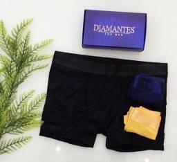 Kit 3 cuecas diamantes