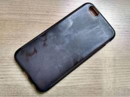Capa Silicone Anti-Impacto Preta para Apple Iphone 6