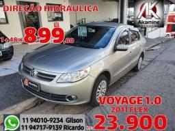 VW - Voyage 1.0 Trend - 2011 - Direção Hidráulica.