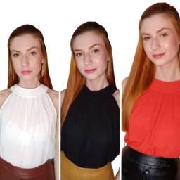Blusa em Feminina em Crepe 3 Modelos Diferentes