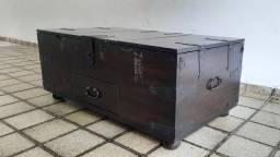Baú com 3 compartimentos + gaveta