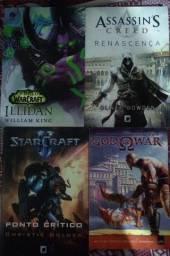Livro World of Warcraft Assassins Creed, God Of War, Starcraft