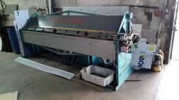 dobradeira / viradeira de chapa hidráulica 3 metros - poucas horas de uso