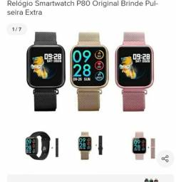 Relógio Smartwatch P80 Original Brinde Pulseira Extra<br><br>