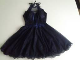 Vestido Curto para festa - Azul Marinho