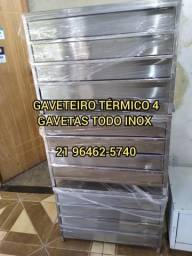 SUPER GAVETEIRO INOX TÉRMICO 4 OU 5 GAVETAS PRONTA ENTREGA!!