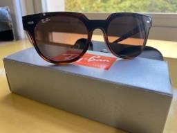 Óculos de sol rayban marrom - masculino